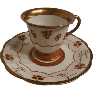 German Art Deco porcelain demi-tasse