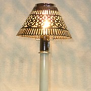 Silver candlestick lamp