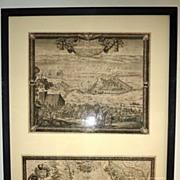 Set of 2 17th century European engravings by Baron Samuel of Pufendorf