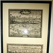 Set of 2 17th century European engravings by Baron Samuel of Pufendorf