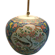 19th century Chinese ginger jar transformed into lamp