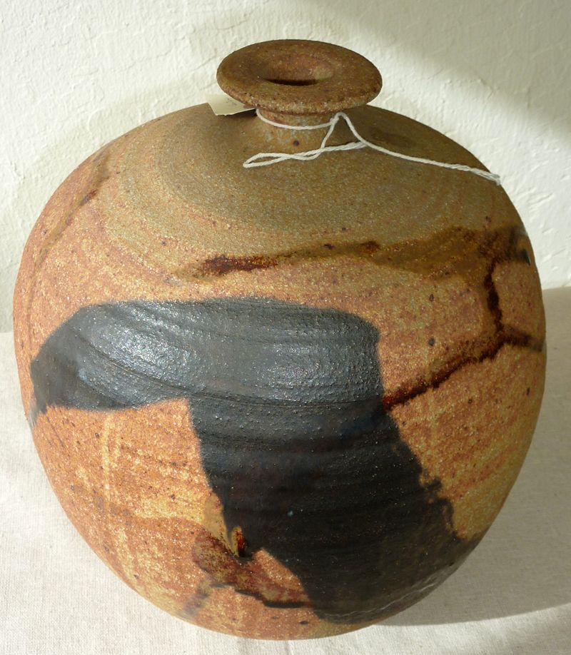 Large pottery signed Whitney