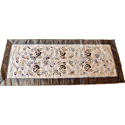 Chinese embroidered silk mat