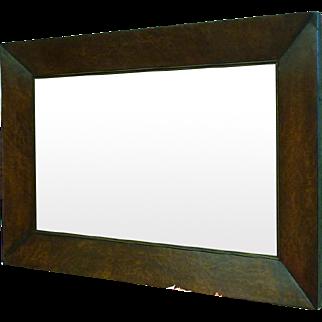 Early 19th century walnut burl mirror