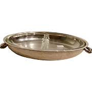 Silverplated vegetable serving dish