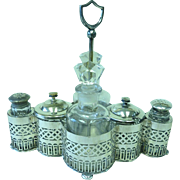 Early 20th century silver plated cruet