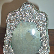 Small Victorian embossed sterling picture frame