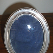 Small oval sterling picture frame