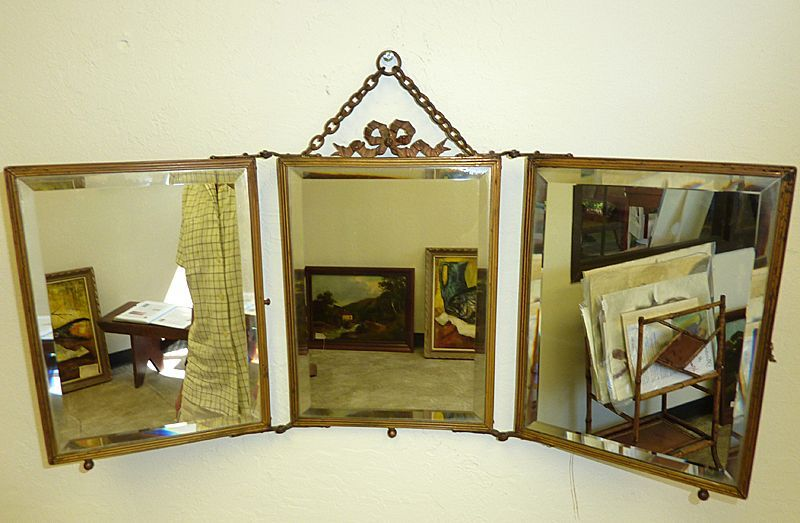 19th century French triptych mirror