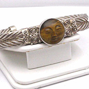 Marianna Sajen Tiger Eye and Sterling cuff bracelet