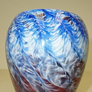 Art glass vase signed Hicks