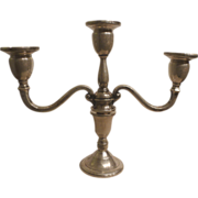 Weighted sterling candelabra