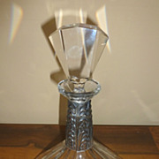 Art Deco crystal Czechoslovakian decanter