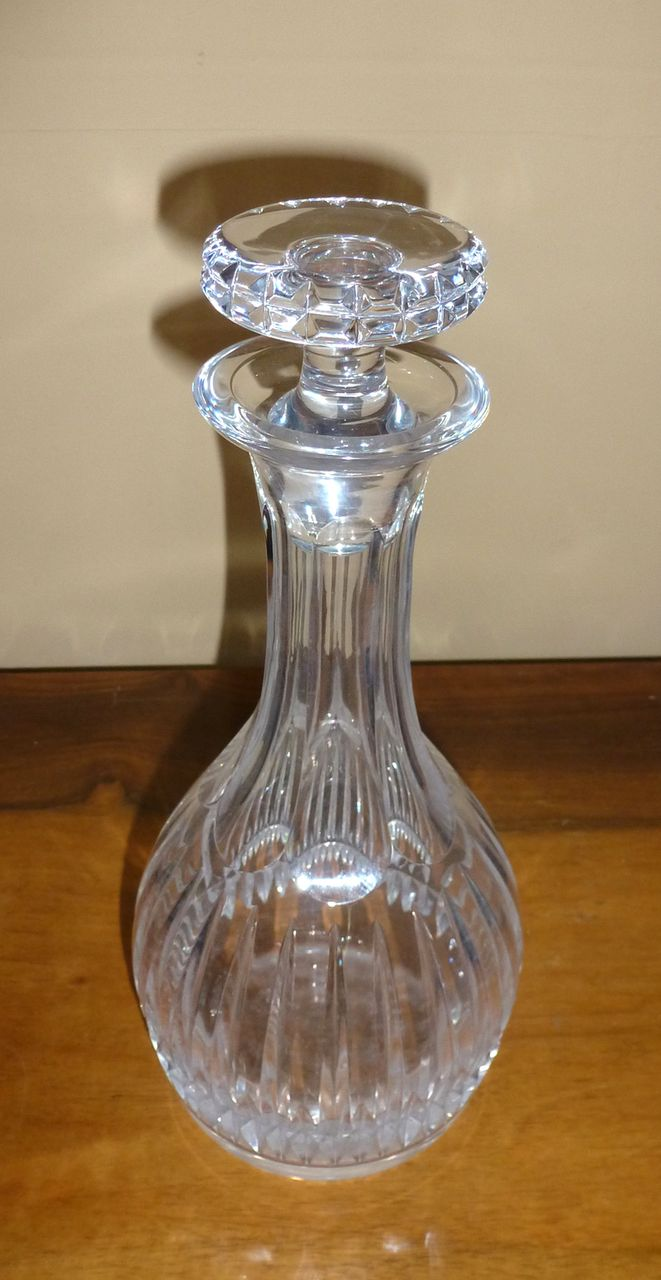 Crystal decanter marked ATLANTIS