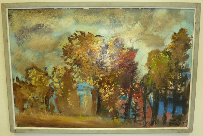 "Oil painting from French artist Jean Burkhalter - ""Paysage d'automne"""