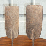 Pair of West African iron currency