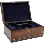 English Victorian Rosewood Jewelry Box