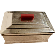 Silverplated cigarette/cigar box, made in Japan