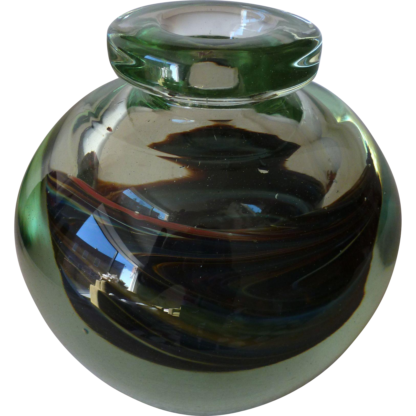 Art glass vase, signed Nolaro