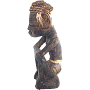 Antique African tribal man statuette