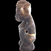 Antique African tribal man statuette