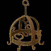Antique wrought iron herb hanger