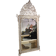 Large Syrian mirror with mother of pearl and camel bone