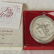 '73 Sterling Ornament – Oneida – Heirloom Series – Joy To The World