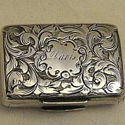 English Sterling Silver Vinaigrette – Birmingham – 1840