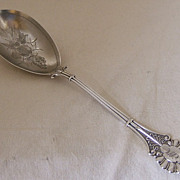 Coin Silver Serving Spoon – Emperor pattern by Knowles & Ladd