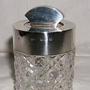 Cut Glass and Sterling Silver Dresser Jar – 1890