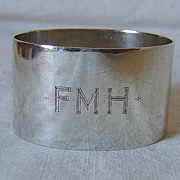 Oval Sterling Silver Napkin Ring – London, England