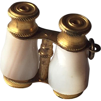 Mother of Pearl Opera glasses for Antique Fashion Doll or Mignonette