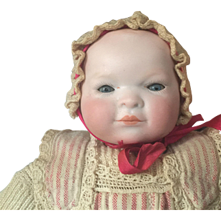 Bye-Lo Baby antique doll original clothes and perfect bisque head