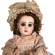Rare Size 3 Tete Jumeau Bebe closed mouth and blue eyes! Ca. 1885