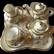 Gorgeous antique porcellain miniature set for large dollhouse