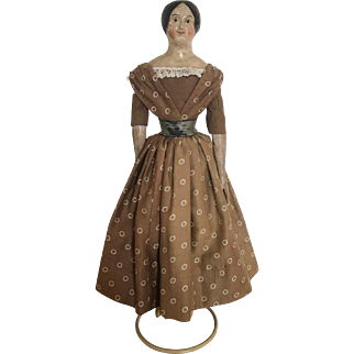 Early German Papier Mache Doll, ca. 1860 from my private collection