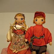 1930's Cloth Russian Dolls