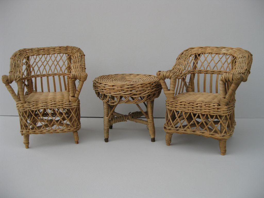 Wicker Dollhouse Furniture