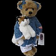 """Mary Holstad """"My Calico"""" Artist Teddy Bear"""