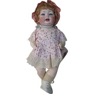 "17"" Louis Wolfe German Bisque Character Baby"