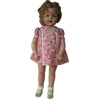 """27"""" Composition Shirley Temple Look-Alike"""