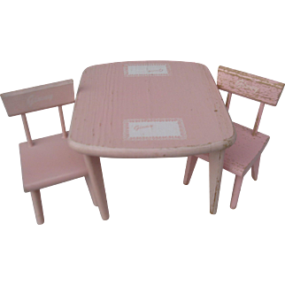 Vogue Ginny Wooden Table And Chair Set