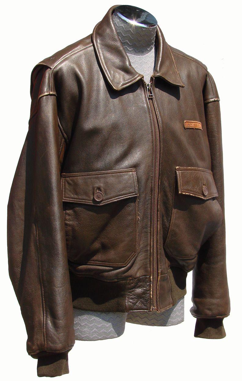 G-1 leather flight jacket