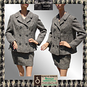 Vintage 1960s Irish Tweed Suit - Donegal Ireland - M