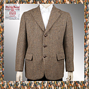 Vintage 1960s Harris Tweed Blazer Jacket - M