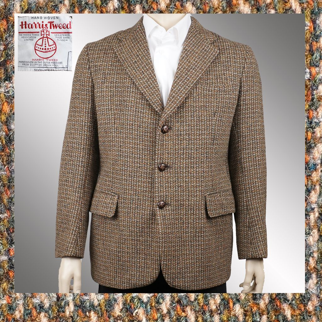 Vintage 1960s Harris Tweed Blazer Jacket - M from