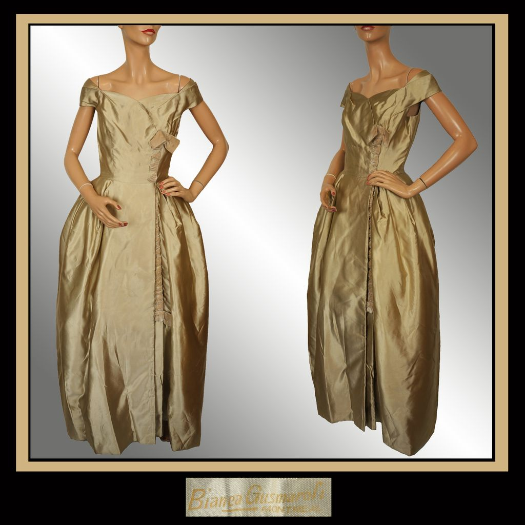 vintage couturier 40s gusmaroli evening gown