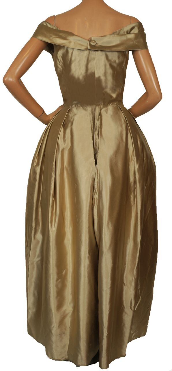 Vintage Couturier 40s Bianca Gusmaroli Evening Gown 1940s Canadian From Poppysvintageclothing
