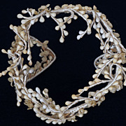 Vintage 1930s Wax Floral Bridal Tiara / Headpiece